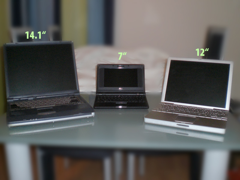 Laptop, eeePC, PowerBook
